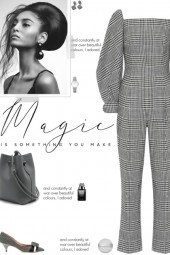 How to wear a Checked Plaid Long Sleeve Jumpsuit!