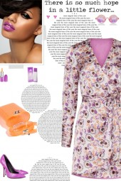 How to wear a Floral Print Long Sleeve Mini Dress!