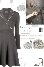 How to wear a Pearl Embellished Flared Dress!