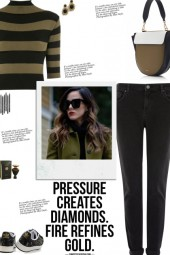 How to wear a Knit Striped Roll Neck Crop Top!