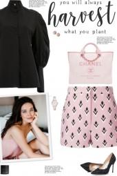 How to wear an Abstract Print High-Waist Shorts!