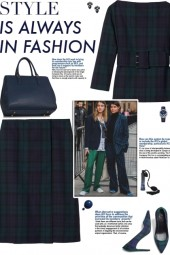 How to wear a Co-Ord Check Print Wool Skirt Set!