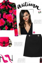 How to wear a Floral Print Twisted Neck Top!