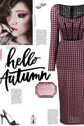 How to wear a Houndstooth Sweeheart Neck Dress!