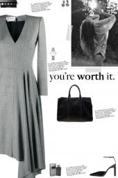 How to wear a Draped Asymmetric V-Neck Dress!
