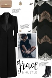 How to wear a Lace Panel Round Neck Midi Dress!