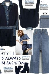 How to wear a Denim- Panel Hybrid Coat!
