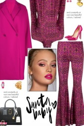 How to wear a Leopard Print Flared Pant Set!