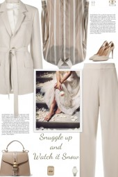 How to wear a Co-Ord Beige Lined Suit Set!