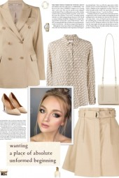 How to wear a Co-Ord Cotton Beige Suit Set!