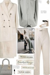 How to wear Paperbag Waist Pinstriped Trousers!