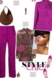 How to wear a Floral Jacquard Viscose Suit Set!