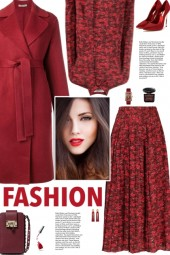 How to wear an Abstract Print Silk Skirt Set!