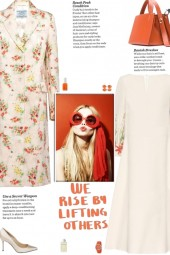 How to wear a All Over Floral Notched Lapel Coat!