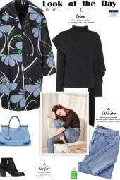 How to wear a Floral Print Neoprene Coat!