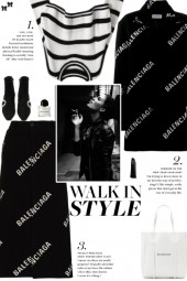 How to wear a Logo Print High Waist Midi Skirt!
