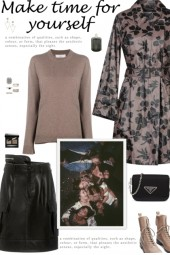 How to wear a Floral Print Faux Leather Coat!