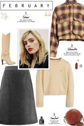 How to wear an Oversized Plaid Crop Jacket!