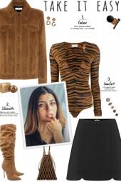 How to wear an Animal Print Long Sleeve Bodysuit!