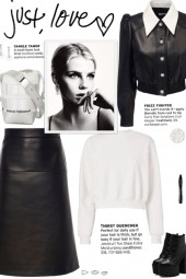 How to wear a Faux Leather Crystal Crop Jacket!