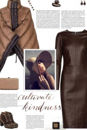 How to wear a Faux Leather Long Sleeve Dress!