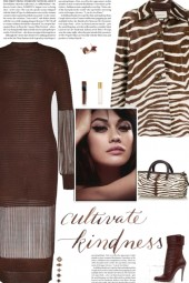 How to wear a Viscose Knit Chain Detail Dress!