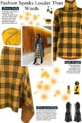 How to wear a Co-Ord Tartan Mohair Skirt Set!