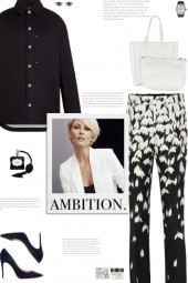 How to wear a Floral Print Wool-Crepe Pants!