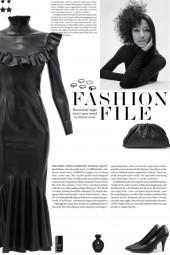 How to wear a Ruffled-Collar Latex Midi Dress!