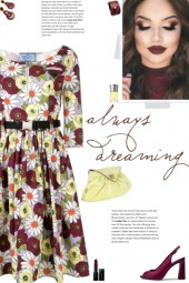 How to wear a Floral Cotton Print A-Line Dress!