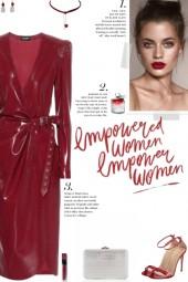 How to wear a High Shine Latex Midi Dress!