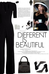 How to wear Scallop Detailed Fitted Jumpsuit!