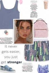 How to wear a Printed Shell Side Seam Shorts!