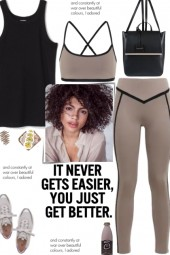 How to wear a Co-Ord Contrast Trim Activewear Set!