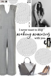 How to wear a Satin-Trimmed Wool Jumpsuit!