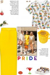 How to wear a Rainbow Print Cotton T-Shirt!