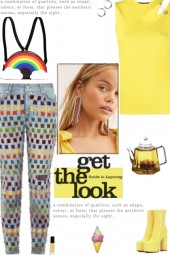 How to wear Multicolor Ribbon Detail Jeans!