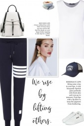 How to wear Striped Cotton Trackpants!