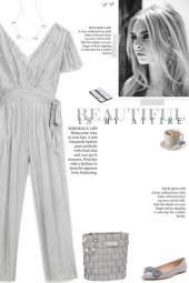How to wear a Striped V-Neck Jumpsuit!