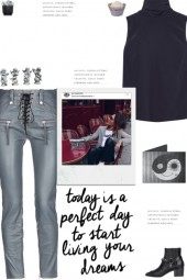 How to wear a Faux Leather Skinny Pants!