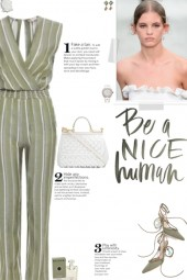 How to wear a Striped Deep V-Neck Jumpsuit!