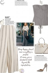 How to wear a Striped Wide-Leg Culottes!