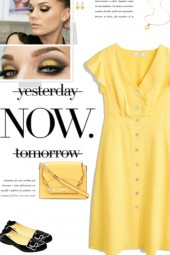 How to wear a Solid Color Ruffle Detail Dress!