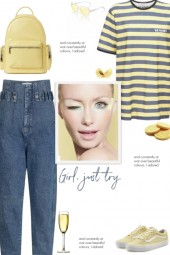 How to wear a Striped Printed Logo T-Shirt!