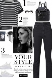 How to wear a Striped Oversized Two-Toned T-shirt!