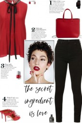 How to wear a Pussy-Bow Emellished Top!