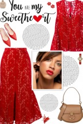 How to wear a Co-Ord Flock Lace Skirt Set!