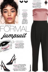 How to wear a Strapless Colo Block Jumpsuit!