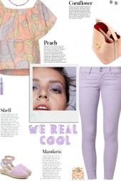 How to wear a Pastel Floral Print Top!