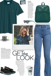 How to wear a Vertical Striped Cotton T-Shirt!